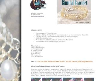 Bimetal Bracelet Tutorial (right hand version)