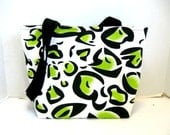 Cheetah Purse - Chartreuse Animal Print Handbag - Medium Bag Inside Pockets - Lime Leopard Tote Bag