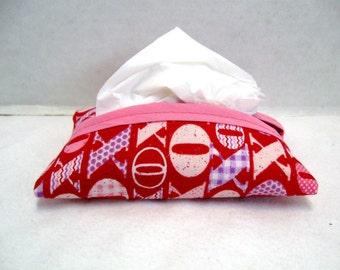 Tissue Holder Valentines Kisses Hugs Tissue Cozy Purse Size