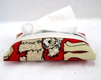 Tissue Holder Dogs on Red