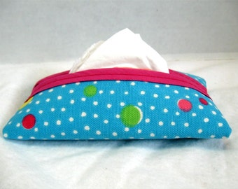 Dots Tissue Holder Bright Turquoise Tissue Cozy