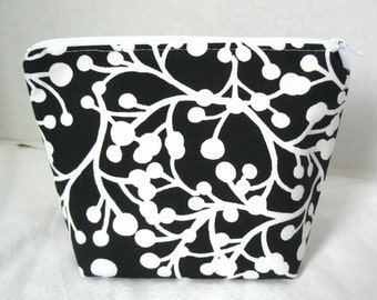 Make Up Bag Branches and Berries Cosmetic Zippered Pouch