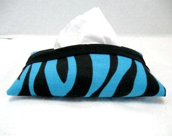 Tissue Cozy Zebra Turquoise