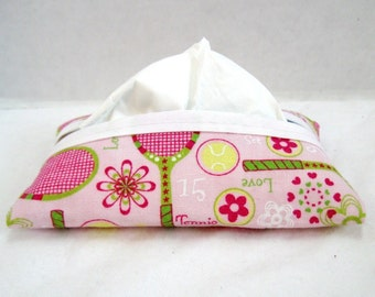 Tennis Tissue Cozy Pink Tissue Holder LIMITED