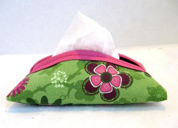 Floral Tissue Holder Pink Vintage Look Tissue Cozy