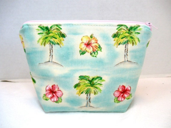 Make Up Bag Palm Trees Cosmetic Pouch