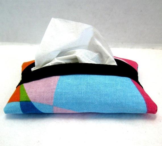 Kaleidoscope Tissue Holder Pocket Colorful Cozy Case