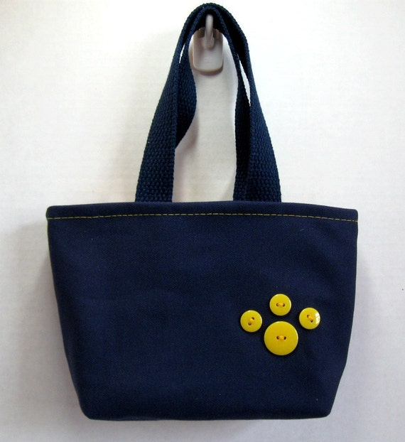 Blue Paw Print Purse 79