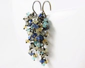 SALE - Labradorite, Apatite, Kyanite, Lemon Quartz and Citrine gemstone tassel Earrings - Natalia - 40% Off (see shop announcement)