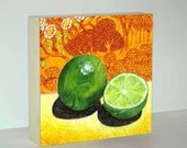 Still Life Painting - Fruit Still Life - Still Life - Limes - Canvas Print - Print on Wood