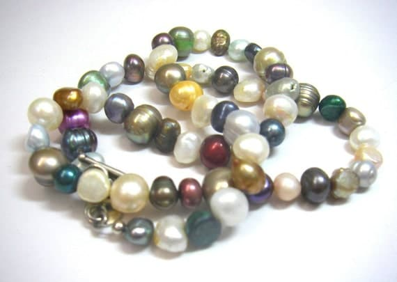 Yummy Candy Colored Pearls Necklace