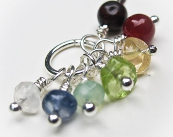 Rainbow Gemstone Chakra Pendant