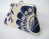 Reserved NAVY AND IVORY Clutch by Pear Mcgee