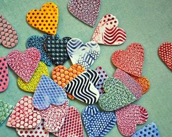 Valentine Magnets- Colorful Ceramic Heart Magnets