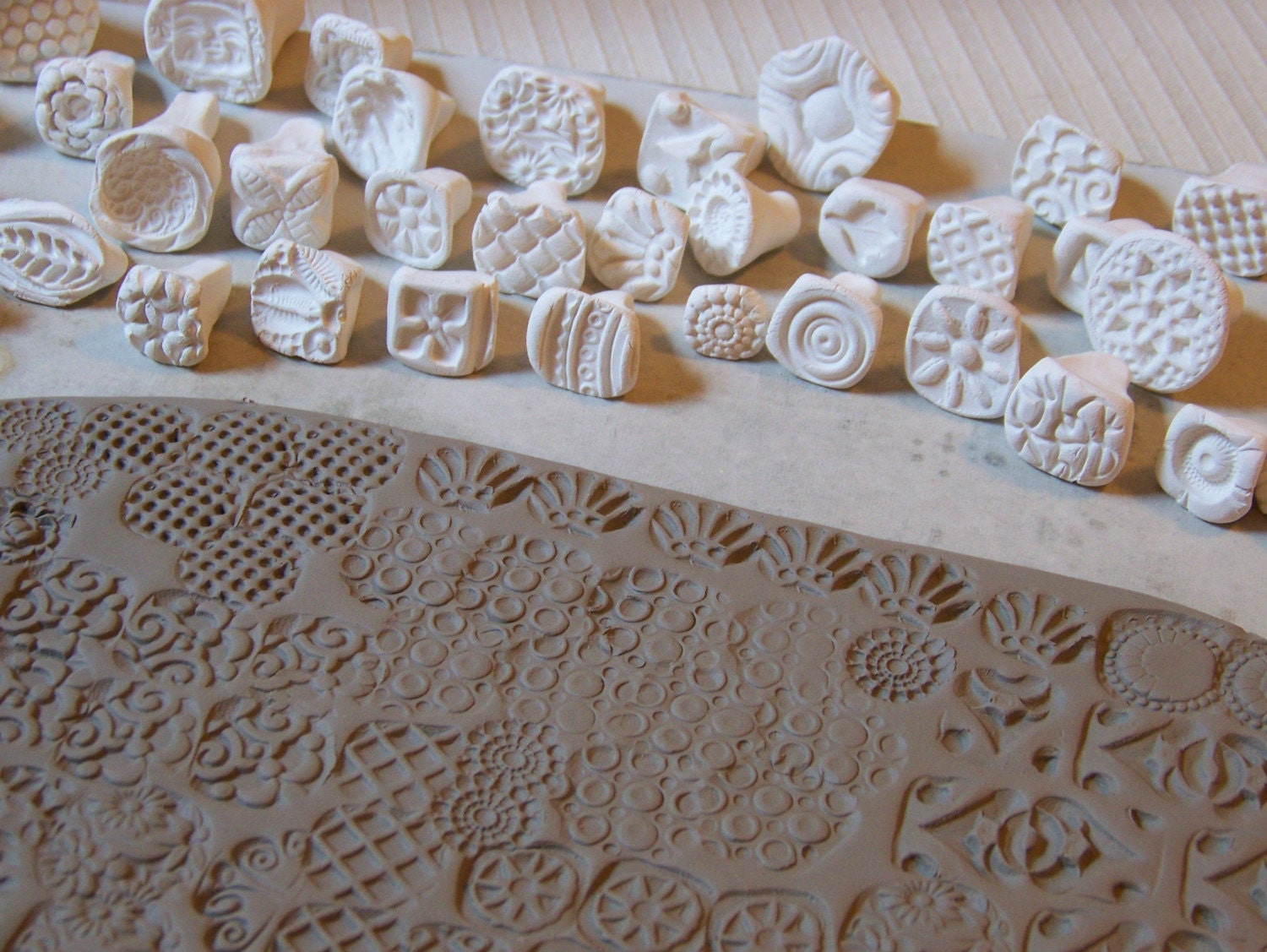 Pottery Name Stamp Letters