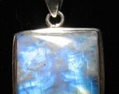 Moonstone and Silver Pendant