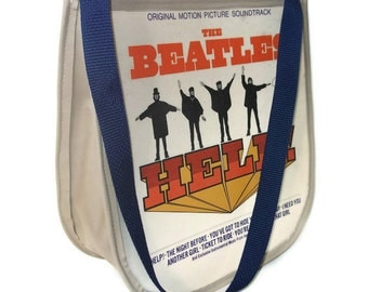 Beatles Record Purse Beatles Help, Vintage Bag, Messenger Handbag, Fashion Designer Accessories