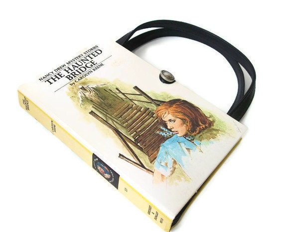 Nancy Drew Book  Purse: Haunted Bridge - Book Handbag