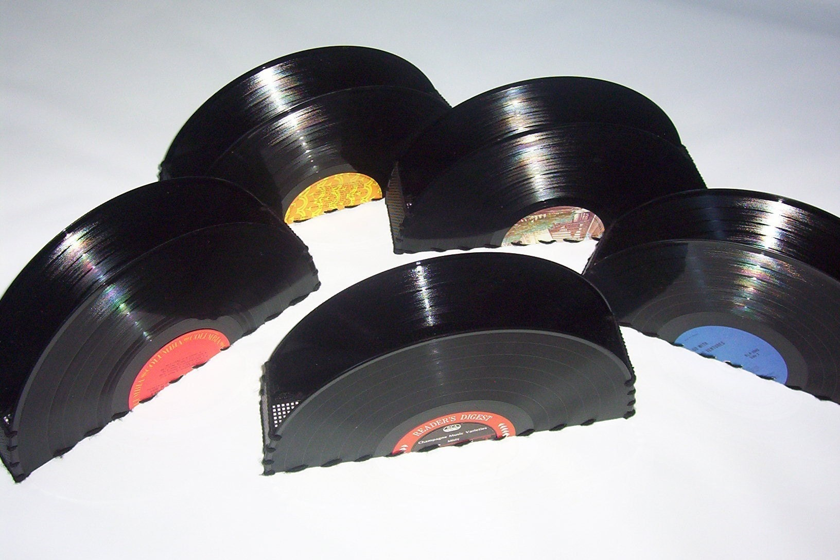 Recycled Vinyl Record Storage Container Holder By Retrograndma