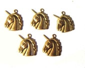 NEW ITEM - mini unicorn charms x 3 pairs