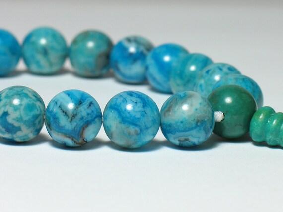 Blue Crazy Lace Agate 18-Bead Wrist Mala