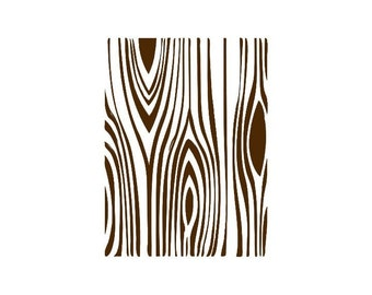wood grain faux bois Rubber Stamp