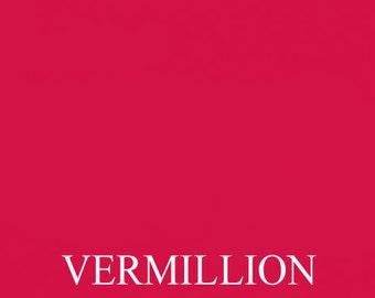 Jumbo Vermillion dark reddish orange ink pad for your rubber stamp waterproof & permanent