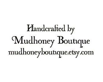 Handcrafted By custom Rubber Stamp
