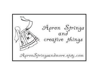 Apron theme custom Rubber Stamp housewife