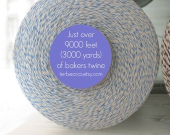 CLEARANCE Bakers twine 3000 yards blue and white spool