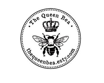 Royal Bee custom Rubber Stamp bumble bee honey bee