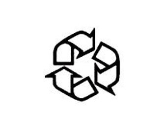 REDUCED micro mini Recycle Symbol Rubber Stamp