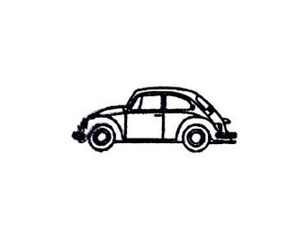 VW volkswagen bug beetle rubber stamp