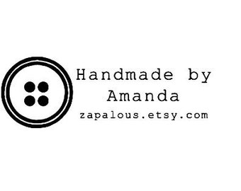 button sewing theme custom rubber stamp, DIY business card