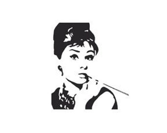 mini Audrey Hepburn Rubber Stamp Breakfast at Tiffanys