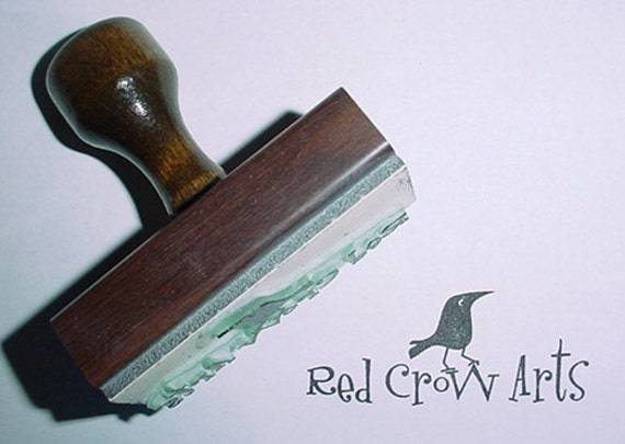 Custom made Mounted Rubber Stamp with Handle for Artists