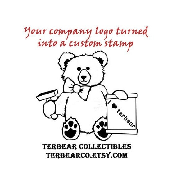 your company logo or art into a custom rubber stamp