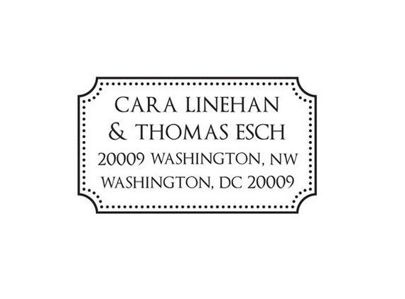 Personalized Couple's Custom Return Address Stamp