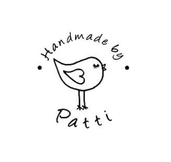 bird handmade by custom rubber stamp love bird