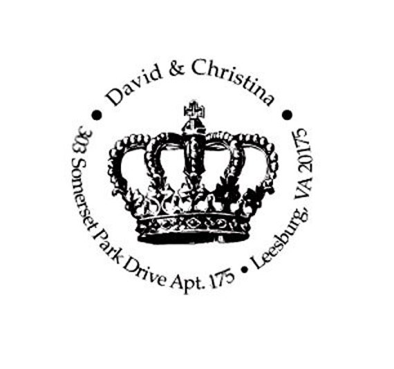 Custom Personalized Vintage Crown Return Address Stamp