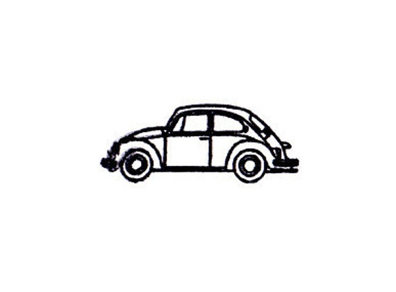 VW volkswagen bug beetle rubber stamp