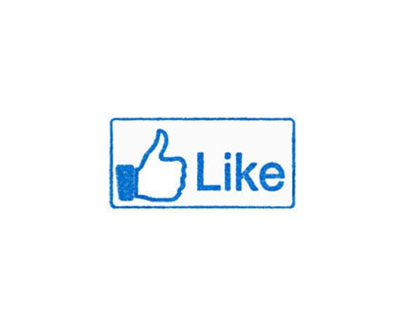 facebook Like Rubber Stamp with handle