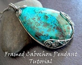 ON SALE: TUTORIAL - Framed Cabochon Pendant