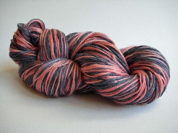 Blushing Black Handpainted Merino Hand Painted 4ply/Fingering Weight Merino/Tencel Silky Yarn