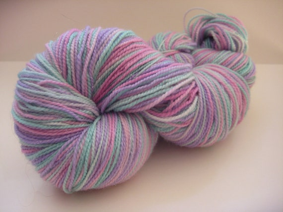 Titania Queen of the Fairies Hand dyed Merino Sparkle Sock Yarn
