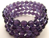 Dark Purple Wire Wrap Bracelet