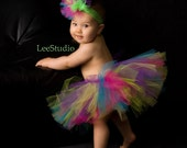 Pixie Party Full Boutique Tutu Fuschia Pink Lime Yellow Purple Turquoise Custom 0-3T Baby Toddler Girl MUST Have Birthday Photo Prop