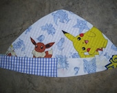 Pokemon Scarf   Upcycled Vintage Fabric Reversible Great for Bad Hair Days
