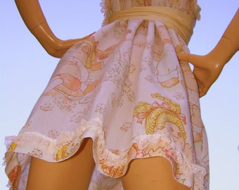 Cabbage Patch SunDress OAK Kawaii Babydoll Dress with Lace M L XL 1XL Adult