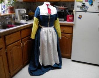 Tudor Gown, Elizabethan Garb, Medieval, Faire, Pennsic, Dagorhir, Renaissance , SCA, Amtgard, Belegarth, Kirtle, Gown, Garb, Costume, CUSTOM